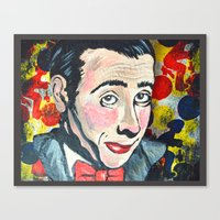 pee wee Canvas Prints featuring Pee Wee by Portraits on the Periphery