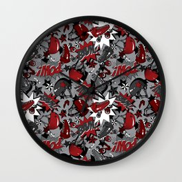 Roller Derby Slam Wall Clock