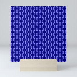 Chainlink No. 1 -- Blue Mini Art Print