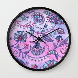 Persian Flowers Wall Clock
