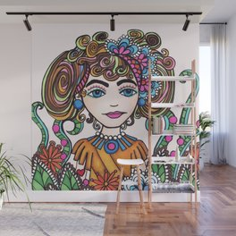 Style Girl - No 21 - Doodle Drawing Wall Mural