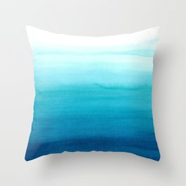 Dive into blue Throw Pillow