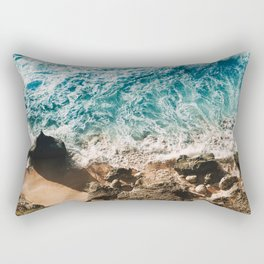 Ocean and Rocks Rectangular Pillow