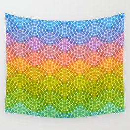 Bright colorful seamless pattern. Rainbow bright lilac pink green purple blue print Wall Tapestry