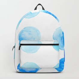 Calming Blue Watercolor Circles Backpack