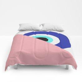 Devil eye pink hide Comforters