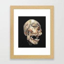 Open Mouth Skull Framed Art Print