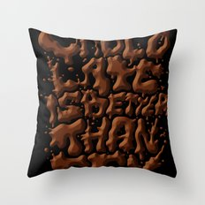 Chocolate is better than SEX Throw Pillow