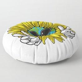 Planet Earth Sunflower Hippie Floor Pillow