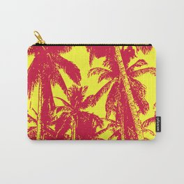 Palm Trees Design in Red and Yellow Carry-All Pouch