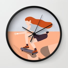 Skate Girl Series Wall Clock