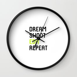 Dream Shoot Edit Repeat Film School Wall Clock