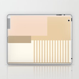 Sol Abstract Geometric Print in Tan Laptop & iPad Skin