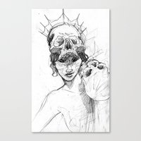 crown Canvas Prints featuring Crown by Maxeroo
