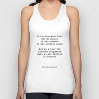 poem Tank Tops featuring Our Cities (poem) by Brendan Bonsack