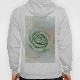 Elegant Painterly Mint Green Rose Abstract Hoody