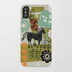 magical horse garden Slim Case iPhone X