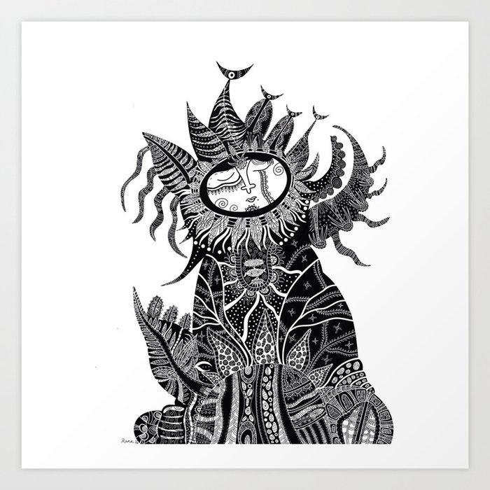 Princess Leaf Art Print