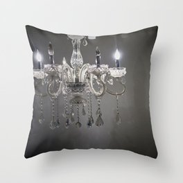 chandelier in NYC Throw Pillow
