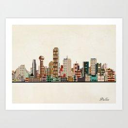 dallas skyline Kunstdrucke