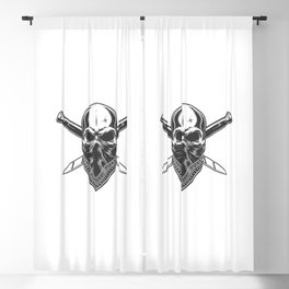 Bandit Skull With Bandana Face Blackout Curtain