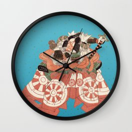 Warrior with Sword - Actor Portrait Vintage Japanese Art Wall Clock