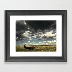 Lost At Field Framed Art Print
