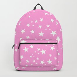 Space and stars pink background Backpack