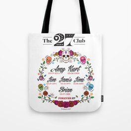 The 27 Club - Day of the Dead Circle of Flowers Print Tote Bag