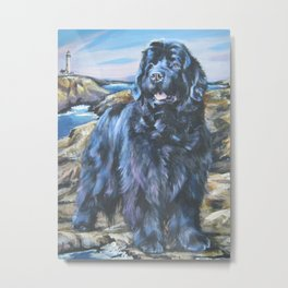 Newfoundland dog art from an original painting by L.A.Shepard Metal Print