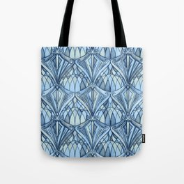 View From a Blue Window Tote Bag