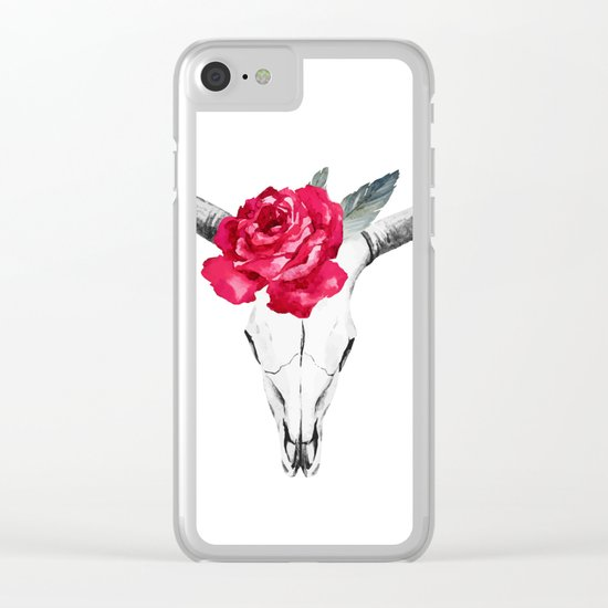 Animal Skull 01 Clear iPhone Case
