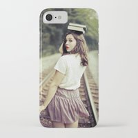 bookworm iPhone & iPod Cases featuring Bookworm by Kelly Is Nice