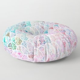 DAZZLING MERMAID SCALES Floor Pillow