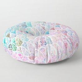 DAZZLING MERMAID SCALES Floor Pillow