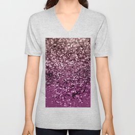Sparkling BLACKBERRY CHAMPAGNE Lady Glitter #2 #decor #art #society6 Unisex V-Neck