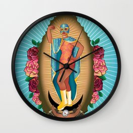 Lucha Guadalupe Wall Clock