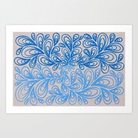 Blue and Light Blue Art Print