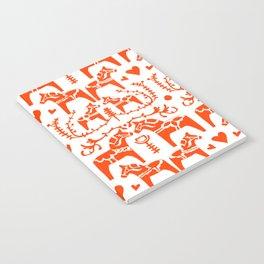 Dala Horses Pattern Notebook