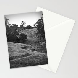 A track winding back Stationery Cards