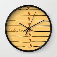 (f*ck)love Wall Clock