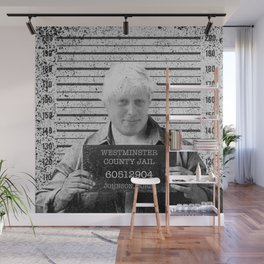 Boris Johnson Mugshot Wall Mural