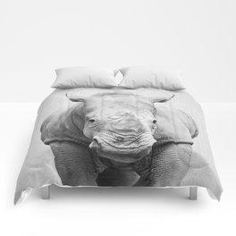 Rhino 2 - Black & White Comforters
