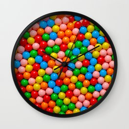 Mini Gumball Candy Photo Pattern Wall Clock