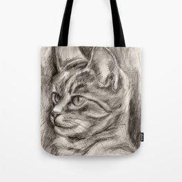 Cat Drawing Tote Bag