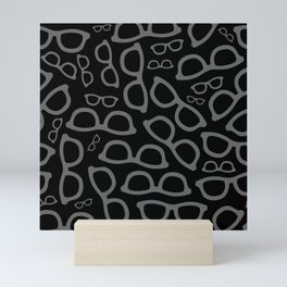 Black Smart Glasses Pattern Mini Art Print