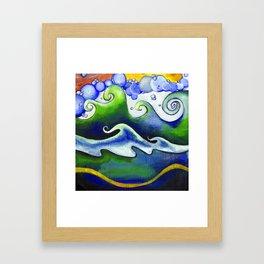 bathe; or don't Framed Art Print