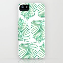 Tropical Palm Leaf iPhone Case