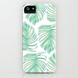 Tropical Palm Leaf iPhone Case