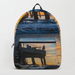 Wet Sand Island Sunset Backpack
